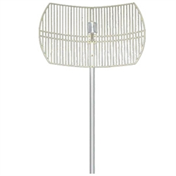 2.4-2.5Ghz 24dBi NF Grid Dish Antenna by Hana Wireless