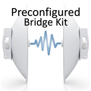 Bridge Kit Complete Pre-Configured PBE-5AC-500-US PowerBeam 5GHz, 802.11ac, 500mm, PoE by Ubiquiti Networks