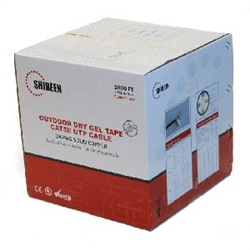 DC-1030 Outdoor Cat5e DryGel Taped 1000ft Spool by Shireen, Inc