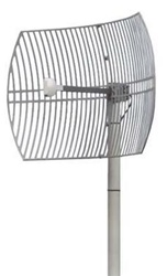 H.D. Die Cast 24dBi 2.4GHz Parabolic Grid Antenna by Pacific Wireless / Laird Tech