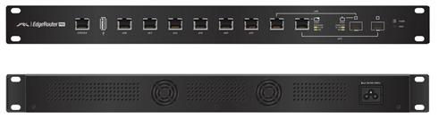 EdgeMAX EdgeRouter-PRO-8 6Gig x 2 SFP Ports, 19