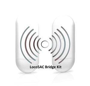 Ubiquiti airMAX® NanoStation Loco5AC) Preconfigured Point-to-Point Bridge Kit (2 Units) from Invictus Wireless