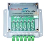 USB isolated Voltage Meter by EtherTek Circuits